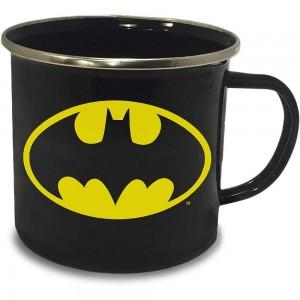 Batman Emaille Tasse Logo
